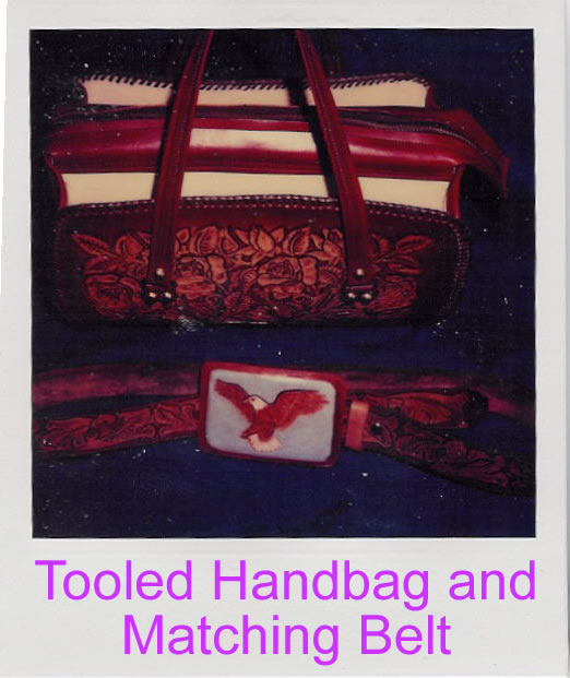Tooled Handbag and Belt